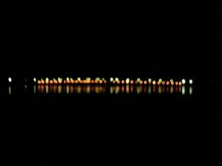 砂沼大橋夜景