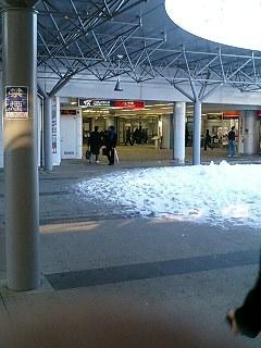 雪の守谷駅乗り換え