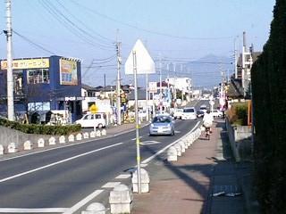 真壁街道with筑波山